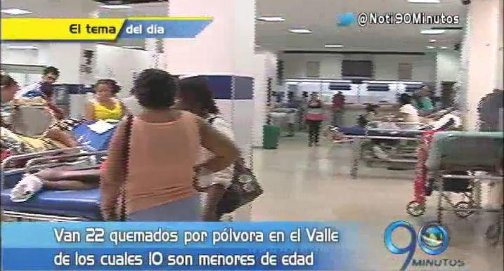 Ya son 22 los quemados por pólvora en el Valle del Cauca