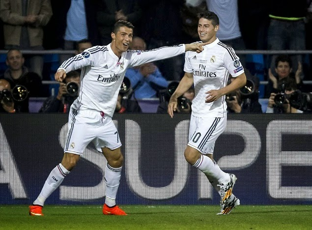 James se coronó campeón del mundo con el Real Madrid