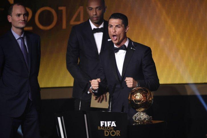 Cristiano Ronaldo alcanzó su tercer Balón de Oro de la Fifa
