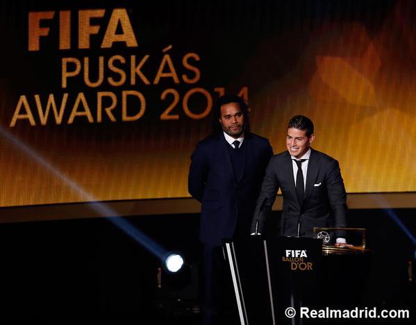 James Rodríguez ganó el premio Puskas al mejor gol del año