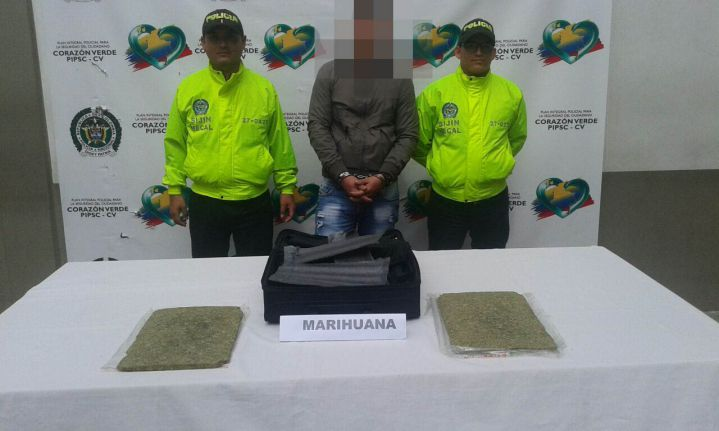 Capturan a un hombre que llevaba tres kilos de marihuana hacia Perú