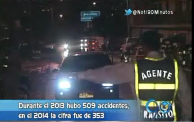 Accidentes de tránsito en Cali disminuyeron durante el 2014
