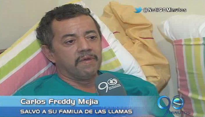 Hombre que salvó a su familia de las llamas relata su drama