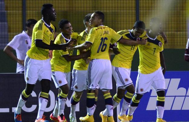 La selección Colombia empató con Paraguay en el Suramericano Sub 20