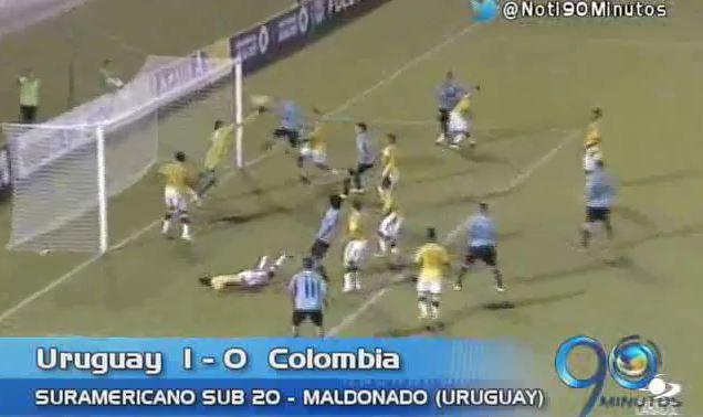 Colombia perdió ante Uruguay en el debut del Suramericano Sub 20