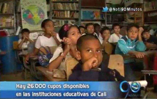 Todavía hay 26.000 cupos para que niños de Cali realicen sus estudios
