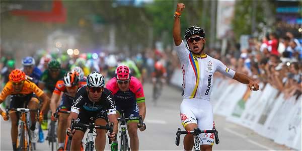 El colombiano Fernando Gaviria, líder en el Tour de San Luis
