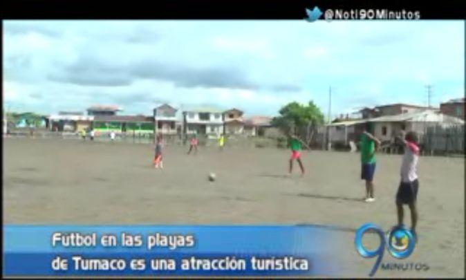Fútbol playero en Tumaco es la atracción de centenares de turistas