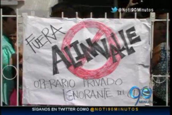 Protesta en Los Mangos por cambio en administración de Hogar Infantil