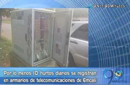 Aumentan robos a los armarios de telecomunicaciones de Emcali