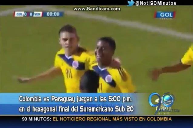 Colombia no pasó del empate con Paraguay en el Suramericano Sub 20