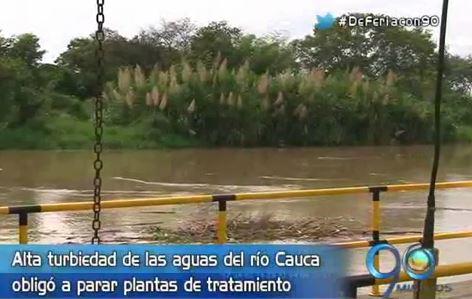 Turbiedad de aguas del Río Cauca obliga a parar plantas de tratamiento