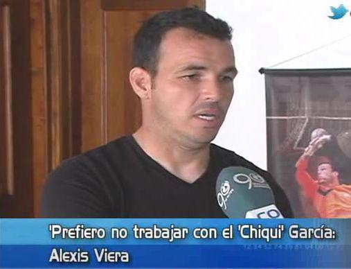 """""""Prefiero no trabajar con el 'Chiqui' García"""": Alexis Viera"""