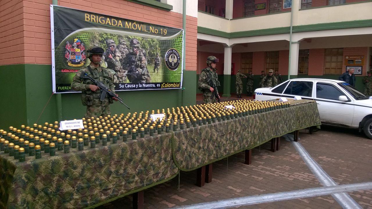 Ejército incauta cohetes que podrían derribar aeronaves en vuelo