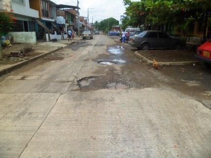 Protesta en barrios de Jamundí por mal estado de las vías