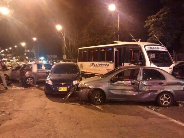 Accidente múltiple en la vía Panamericana Cali – Jamundí