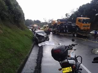 Accidentes en la vía Popayán – Cali dejan una persona muerta
