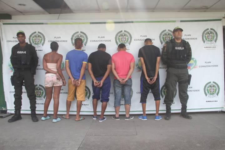 Capturan en Cali a siete miembros de la banda delincuencial 'Hito'