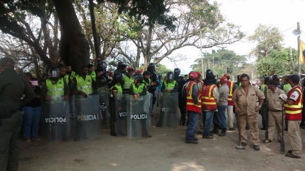 Disturbios durante desalojo en el jarillon del río Cauca