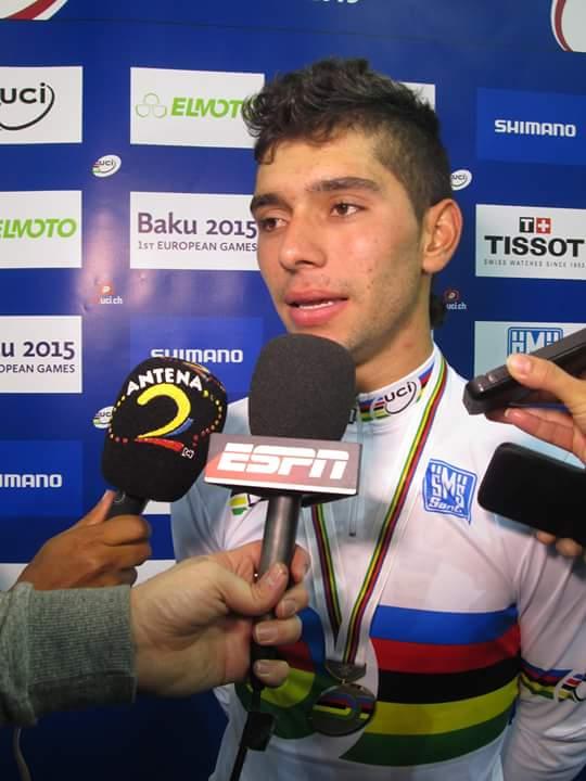 Fernando Gaviria ganó oro en el Mundial de Pista en Francia
