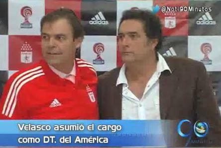 América de Cali presentó a Fernando Velasco como su nuevo técnico