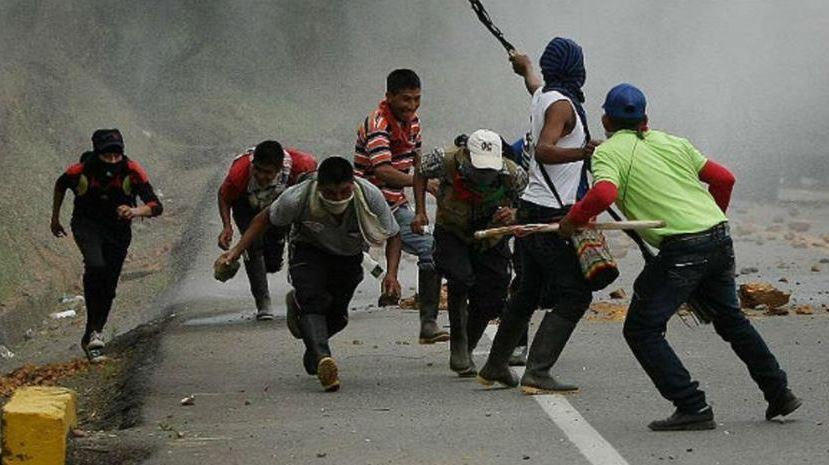 Un indígena muerto tras enfrentamientos con la fuerza pública