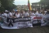 Marcha en Florencia, Caquetá por el asesinato de los  cuatro niños