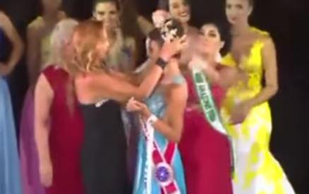A la Reina del Amazonas le bajaron la corona en plena ceremonia