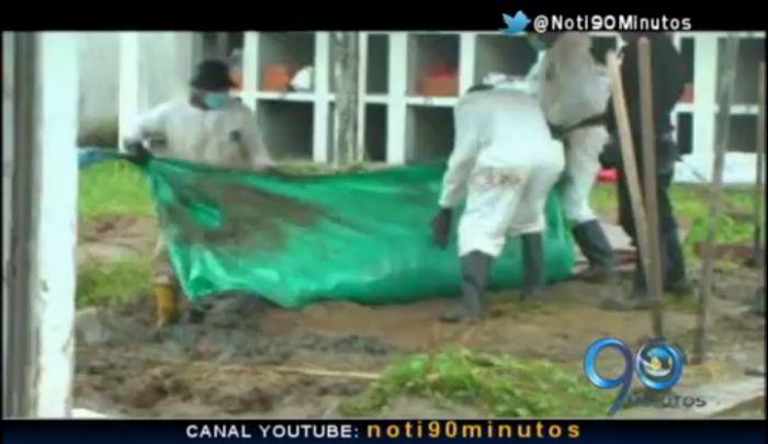 Los sepultureros de 62 cuerpos de NN en Bocas de Satinga