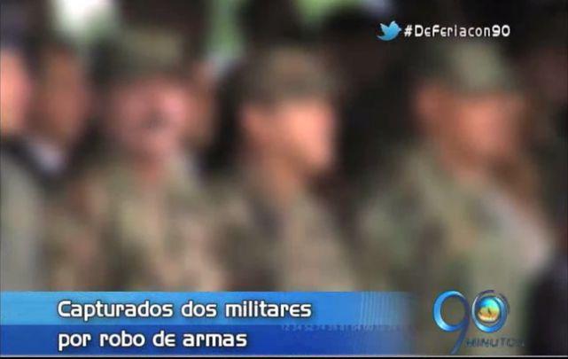 Capturan en Buga, Valle, a dos militares por robo de armas