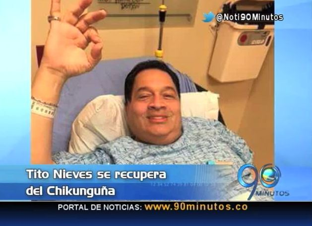 Cantante Tito Nieves se recupera del Chikunguña