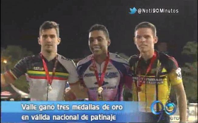 Tres medallas de oro para el Valle en la Valida Nacional de Patinaje