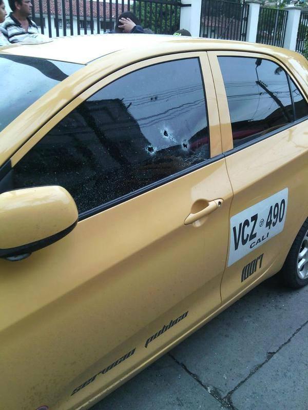 Taxista resultó herido después de haber sido atacado a bala