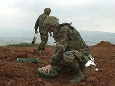 Infante de marina, víctima de  una mina antipersona