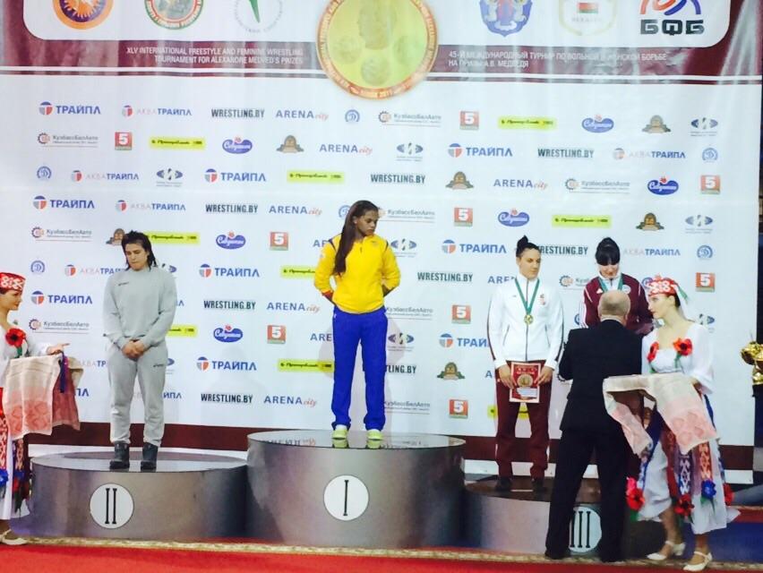 Jackeline Rentería logró la medalla de Oro en el Grand Prix de Bielorusia