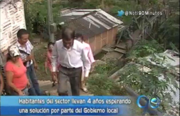 Comunidad del sector de Alto Aguacatal teme por deslizamientos