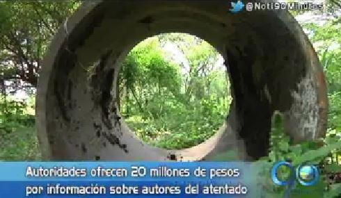 Ofrecen recompensa por autores de atentado al acueducto de Villagorgona