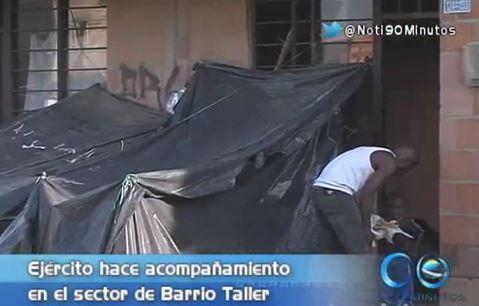 Ejército hizo presencia en el desalojo de los habitantes de Barrio Taller
