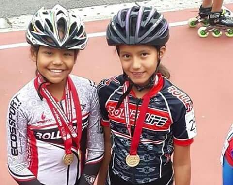 Dos patinadoras caleñas, campeonas en Nacional de Menores de Manizales