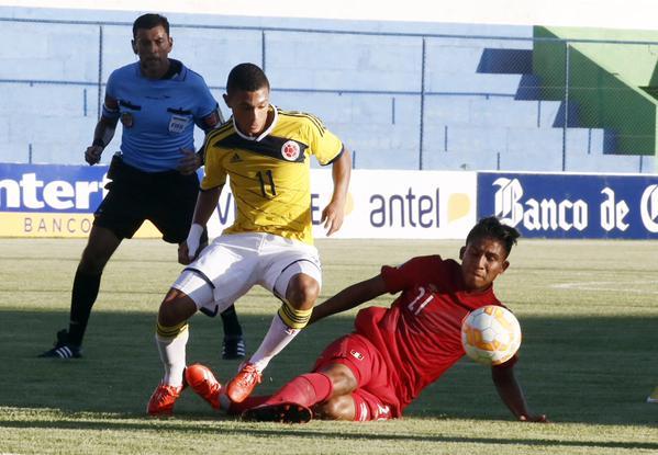 Colombia se recuperó y goleó a Perú en el Suramericano Sub 17