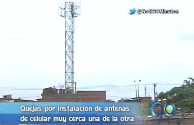 Habitantes del barrio Antonio Nariño se oponen a instalación de antenas