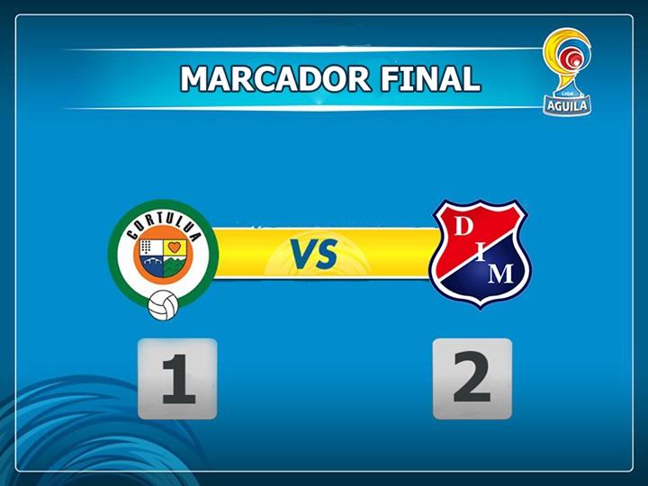 Medellín venció 2 – 1 al Cortuluá y se ubicó líder de la Liga Águila