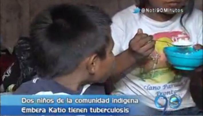 Dos niños embera katío, ascentados en Cali, son tratados por tuberculosis