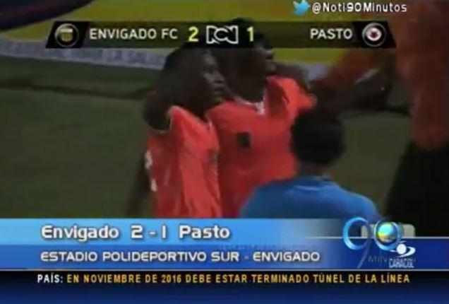 Envigado es el nuevo líder de la Liga tras victoria ante Pasto
