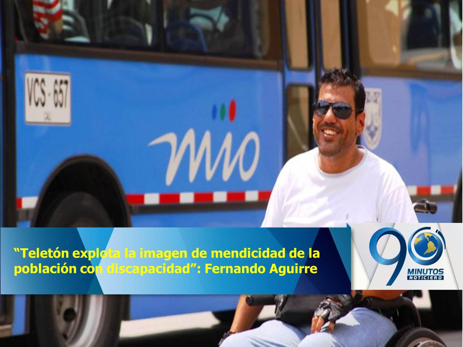 """""""Teletón explota la imagen de mendicidad de la población con discapacidad"""": Fernando Aguirre"""