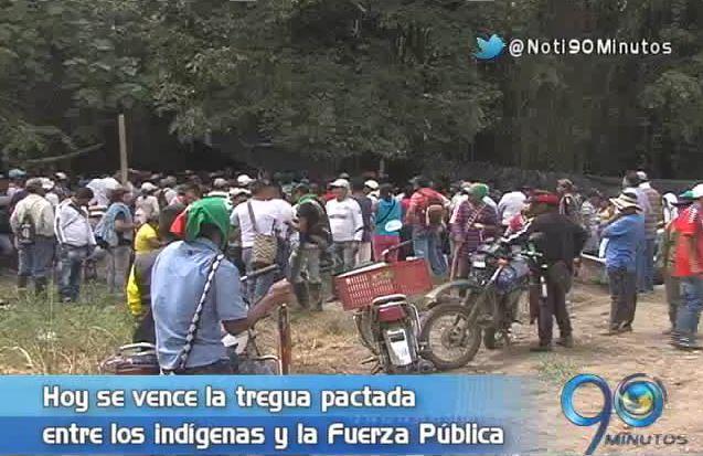 Vence tregua pactada entre indígenas del norte del Cauca y la Fuerza Pública