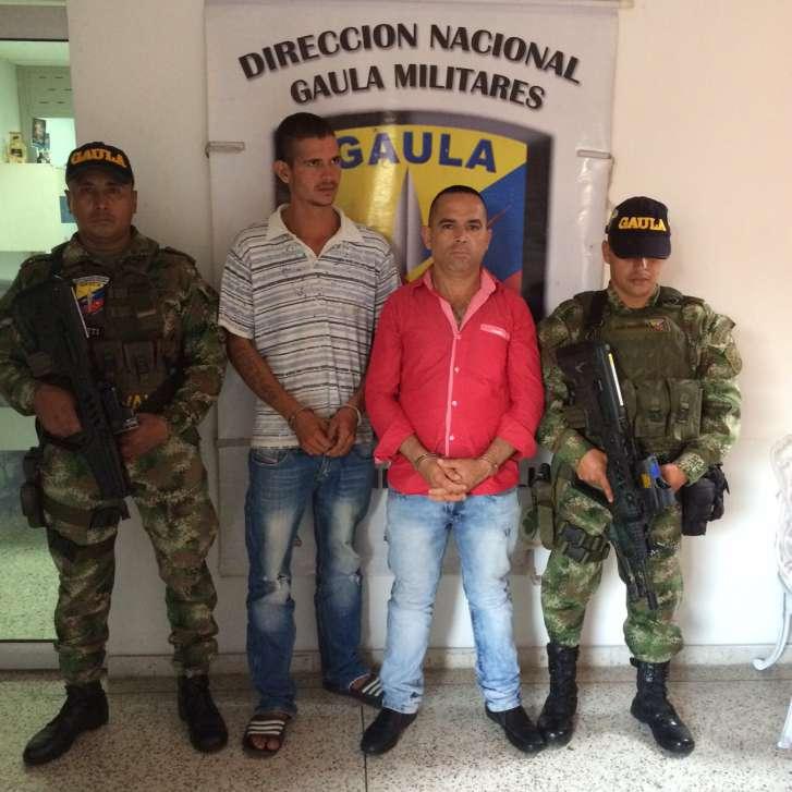 Capturan tres presuntos miembros de la banda criminal 'Los Rastrojos'
