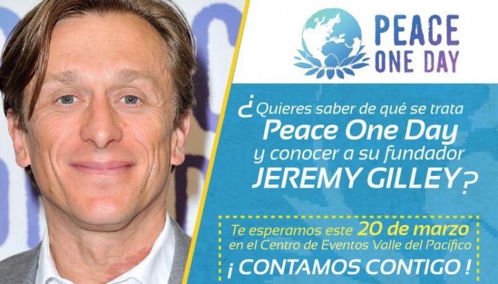 Jeremy Gilley, de Peace On Day, hablará de paz en Cali