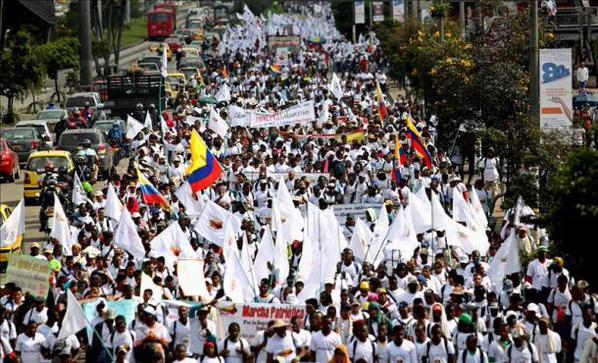 Porque la vida es sagrada, Colombia marchó por la paz