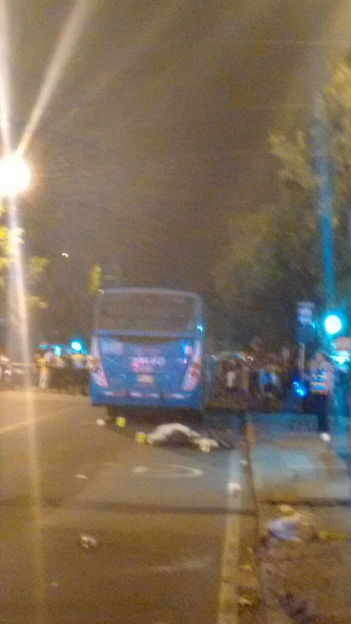 Bus del Mío atropelló ciclista en el norte de Cali